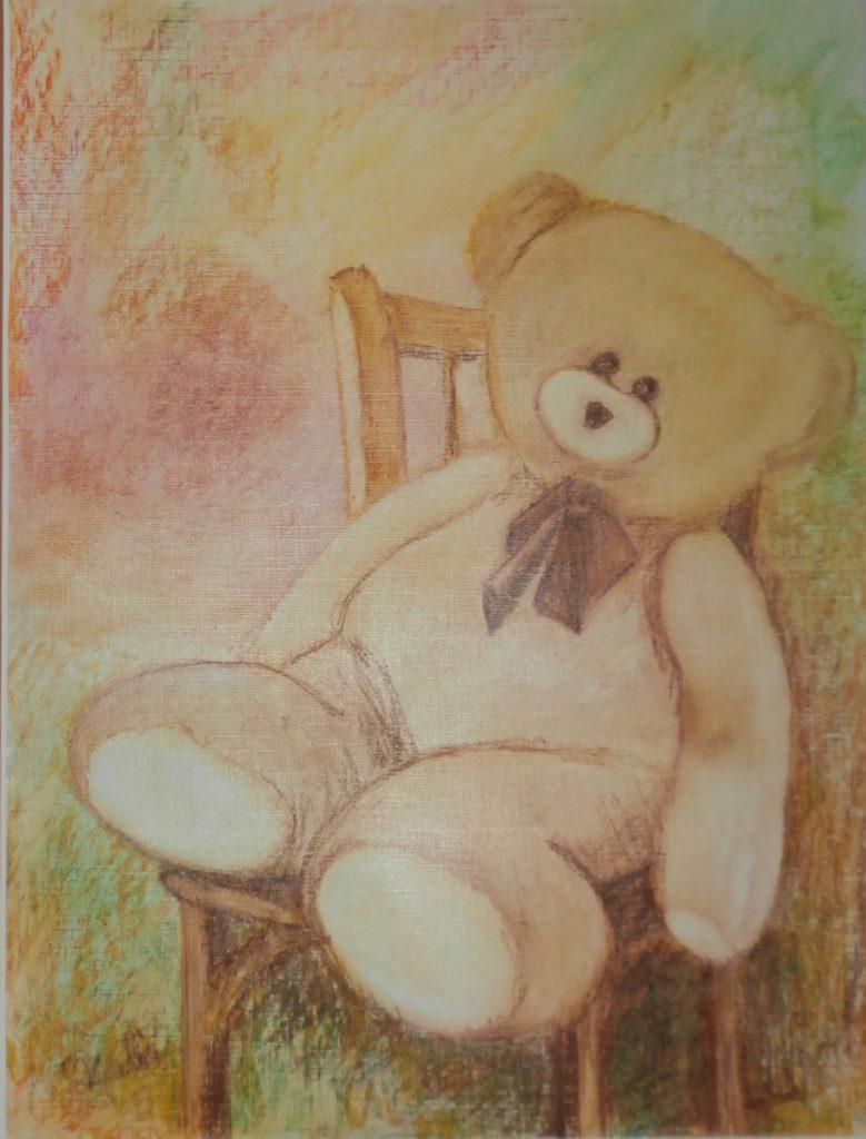 Souvenir Pastel à l'huile sur papier toile   ( 30 x 40)-