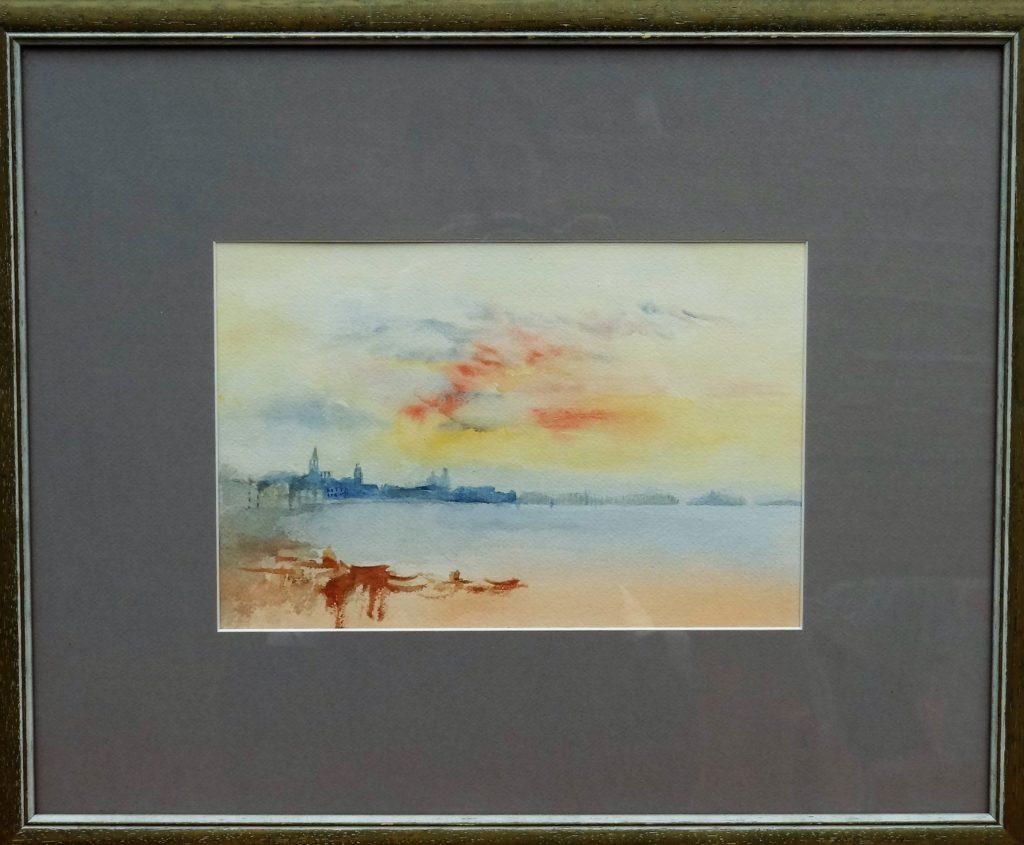 Venise d\'après une oeuvre de Mr Turner - aquarelle 30x40 - 80€
