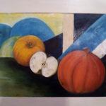 Rondeurs -Acrylique et huile sur papier 300  g - (50 x 40)