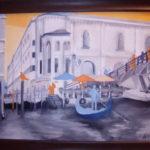 Venise - huile sur papier toilé -( 45 x  35).