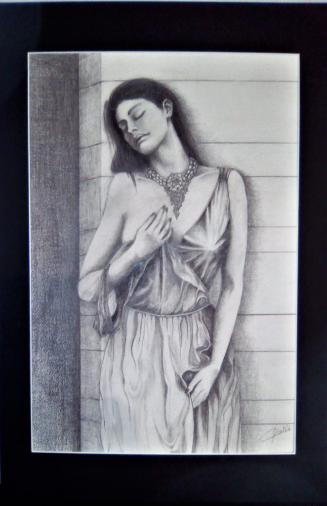 Femme au bijou - Offerte à Mathilde