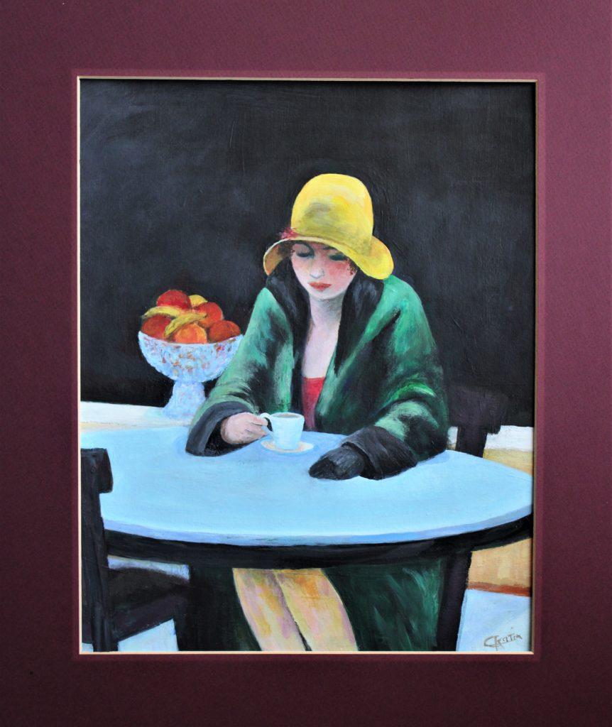 Détail d\\\'après une oeuvre de Mr Hopper - Acrylique - 40 x 30 - vendue
