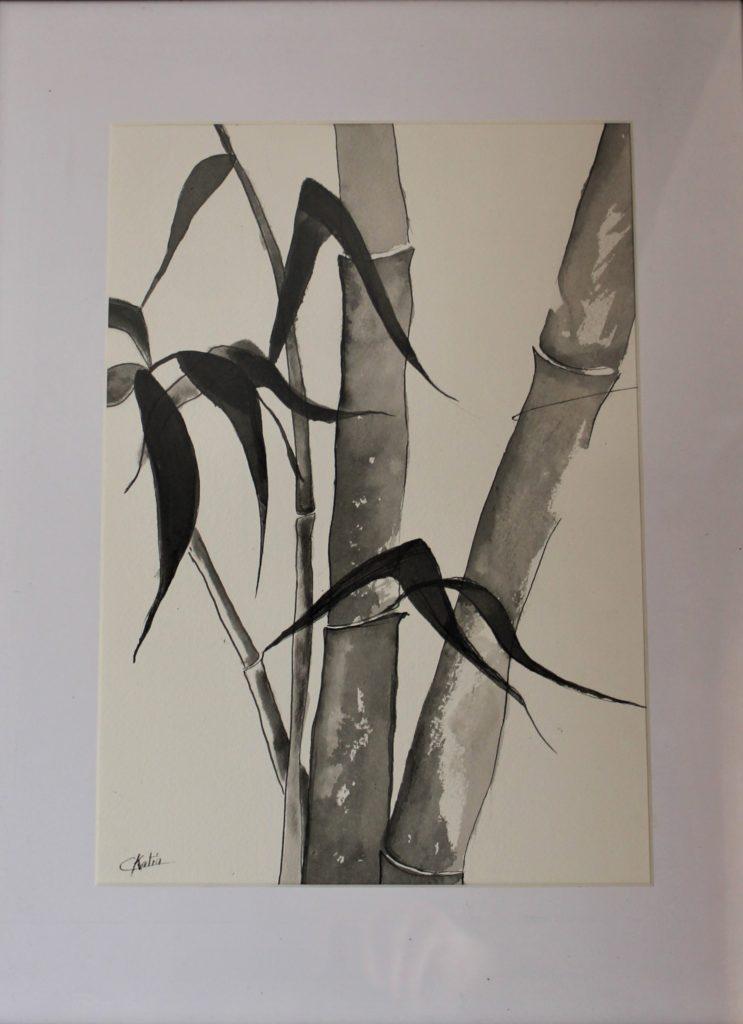 Encre de chine sur papier aquarelle 300 g - format A3 - Offerte