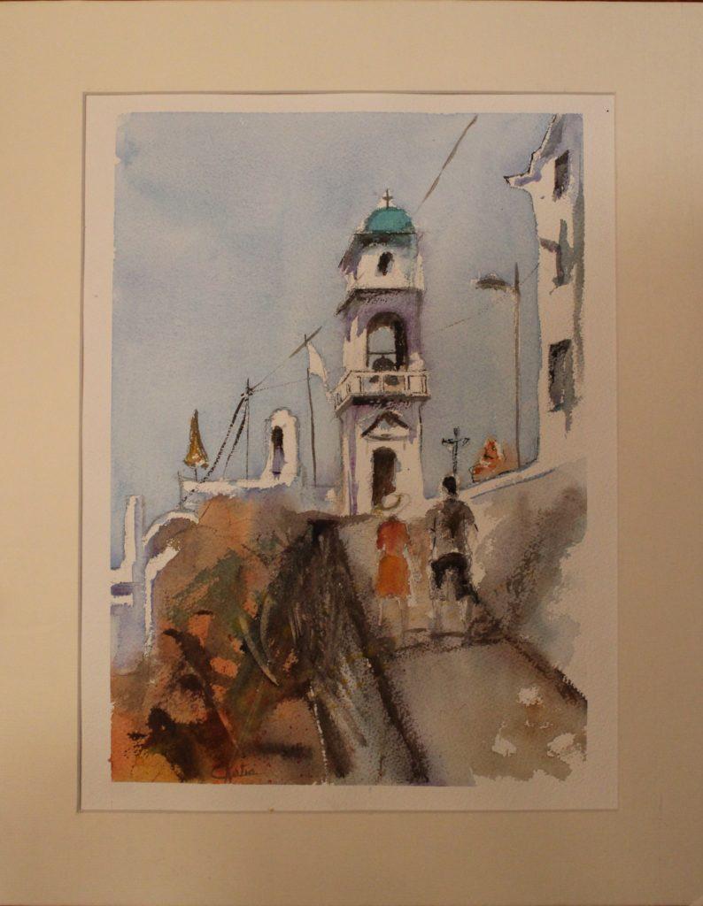 aquarelle 40x30 sur papier arches 300g
