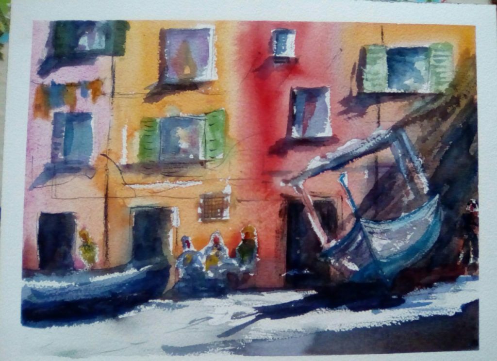 aquarelle sur papier Arches 300g - 40x 30