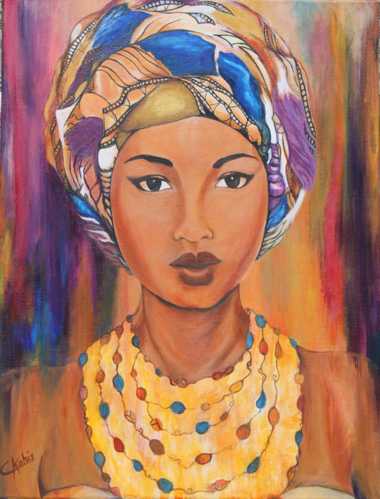 Cuba - acrylique sur toile - Offerte à ma nièce Océane