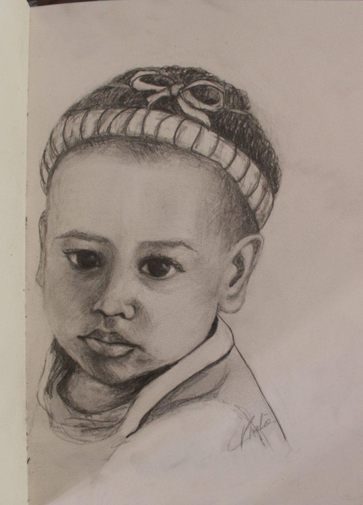 Ma petite-fille - crayon - 20x30 réalisée en octobre2020