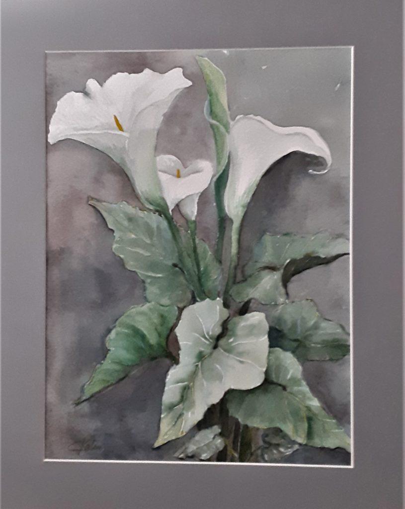 Arômes de mon jardin - aquarelle 40x50 encadrée - papier arches 300g - 80€